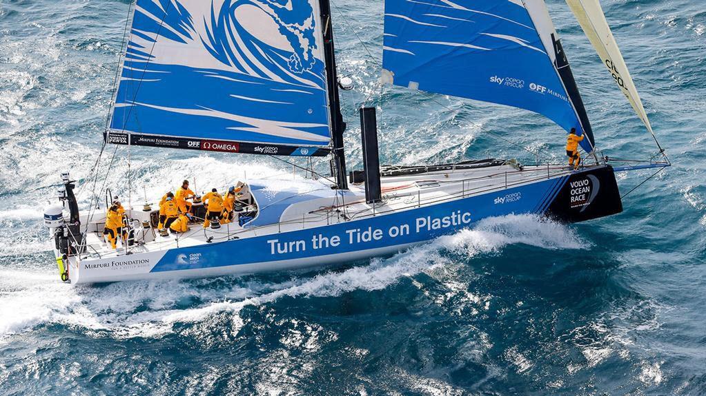 Volvo Ocean Race illustrating entry turn the tide on plastic